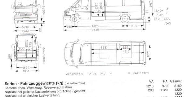 mercedes sprinter masse hhe 7 test pinterest. Black Bedroom Furniture Sets. Home Design Ideas