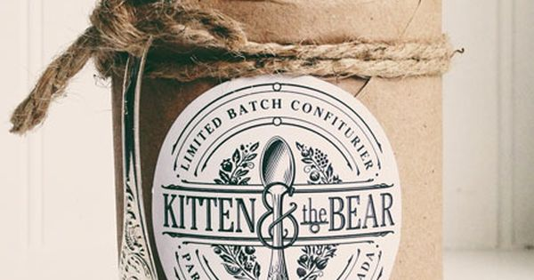 Kitten & the Bear Jam Confiture packaging envelope jam