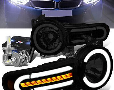 Details About Led Tube Sequential Tinted Amber Headlight Slim Led Hid Kit For 07 14 Fj Cruiser In 2020 Cars Trucks Fj Cruiser Car