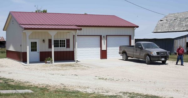 Garages Carports And Sheds For Sale By The Kansas: Morton Buildings Garage In Tampa, Kansas.