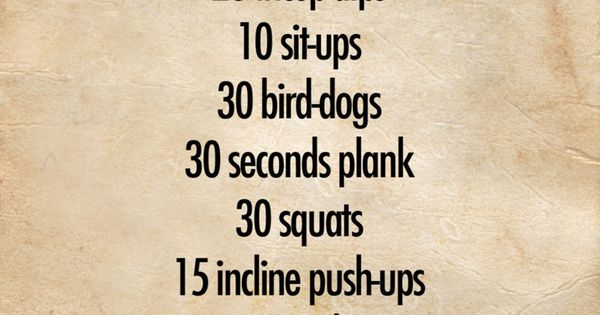 Nice little at home workout