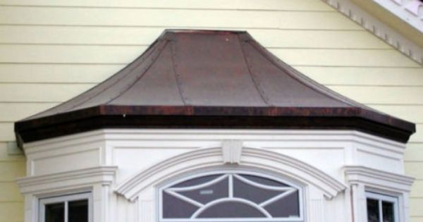 Bay Window Roof Covering Custom Seamed Copper Bay Window Cover Roof By The Metal Shoppe House Awnings Bay Window House Exterior