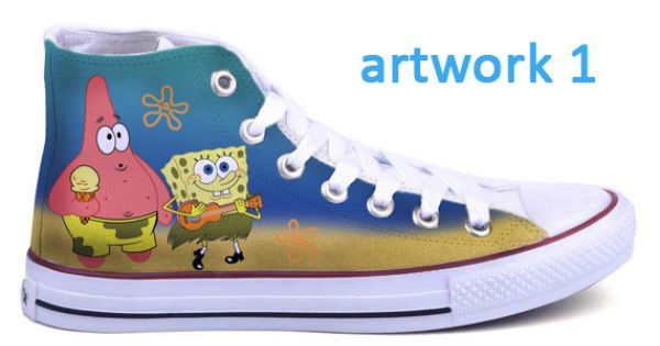 Spongebob Converse Shoes By Bifrostshoes On Etsy 60 00