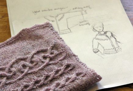 Knitting Cables Tips : Knitting horizontal cables from eunny jang