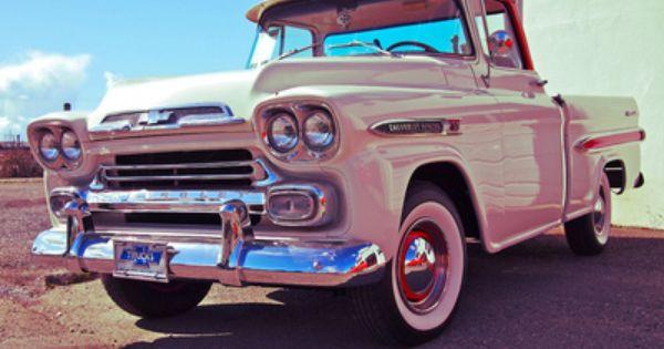 Apache Fleetside Pink Chevy Trucks Classic Cars Trucks Old