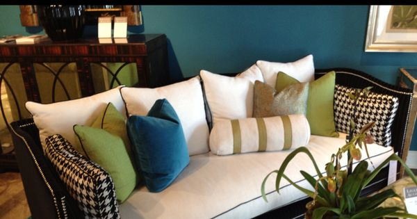 Wall Colour Inspiration: Lilian August For Hickory White Belvedere Sofa. LOVE The