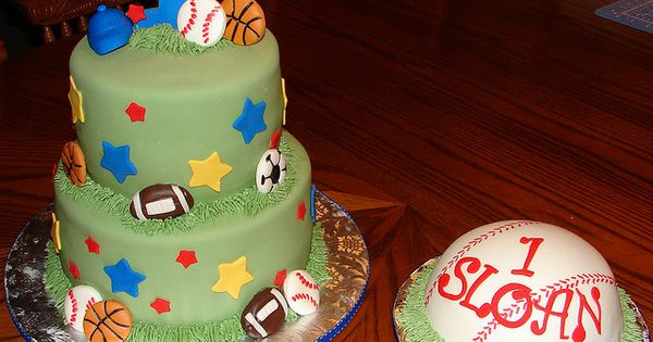 sports birthday cakes for 1st bday
