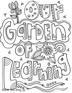 Bulletin Board Themes Coloring Pages At Classroom Doodles Quote Coloring Pages Flower Bulletin Boards School Coloring Pages