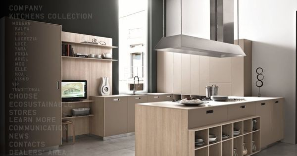 Beech modern kitchen like the open shelves at the island my style pinterest - Ikea beech kitchen cabinets ...