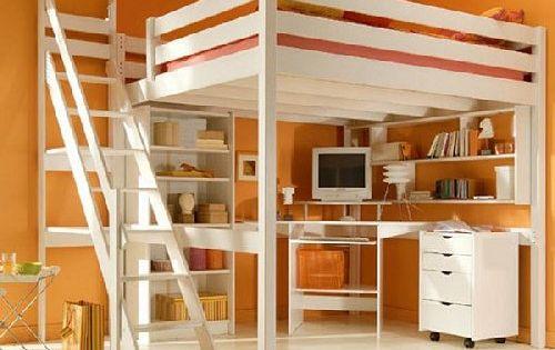 Mezzanine pour adulte ou enfant en bois massif plusieurs couleurs disponible - Mezzanine pour adulte ...