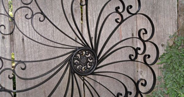 Large Wrought Iron Wall Decor / Metal Wall Decor By