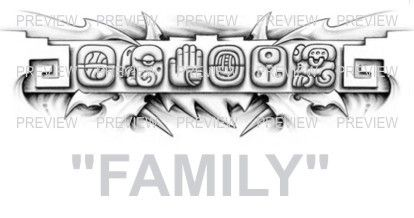 family mayan glyphs tattoo design b 187 � aztec tattoos