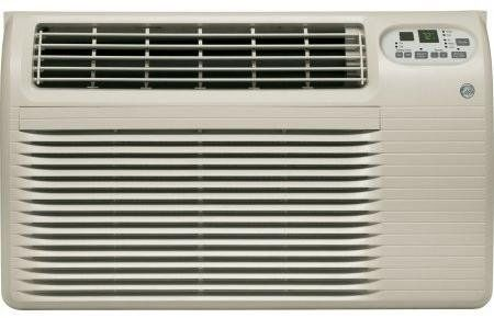 Ge Ajcq08acg 26 Energy Star Built In Air Conditioner With 8200 Cooling Btu Digital Thermostat 24 Hour Timer And Remote Control Soft Grey