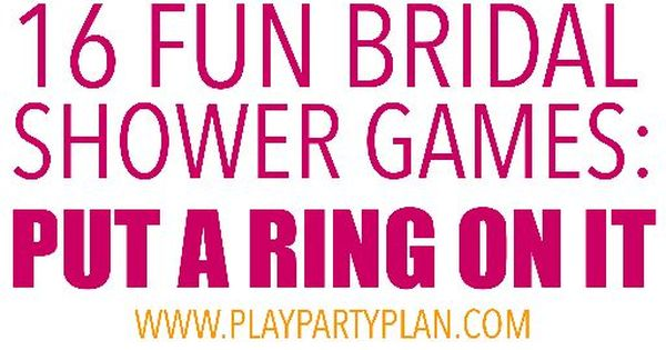 16 Hilarious Bridal Shower Games That Don't Suck! With