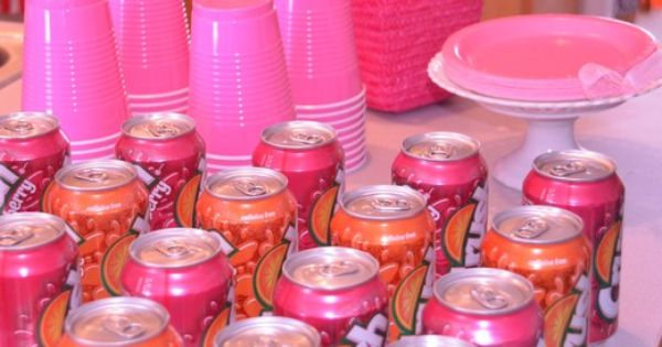 drinks to match the party. love the pink crush but may wrap