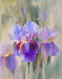 Tableau Iris Huile Peinture Fleurs Coquelicots Peinture