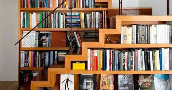 Bookshelfstairs casas decoraci n pinterest escalera bibliotecas y estanter as - Estanteria escalera casa ...