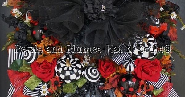 "Halloween Witch Wreath - ""WiCkEd WiTcH w/her Ruby Red Slippers"" Follow us"