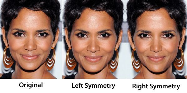 Face Symmetry Of Celebrities Face Symmetry Unique Beauty Products Symmetry
