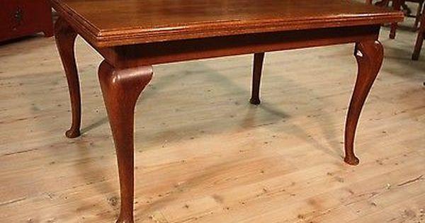 Tabelle Befestigt 4 Beine Hollandisch Geschnitzte Eichenholz Old