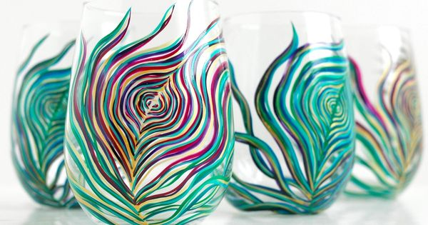 Regal Peacock Glasses