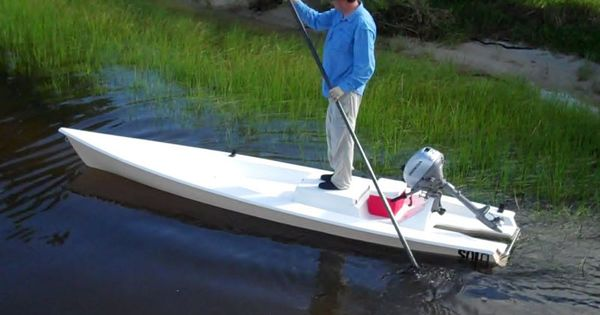 Solo Skiff The One Man Powered Boat A Fishing Kayak