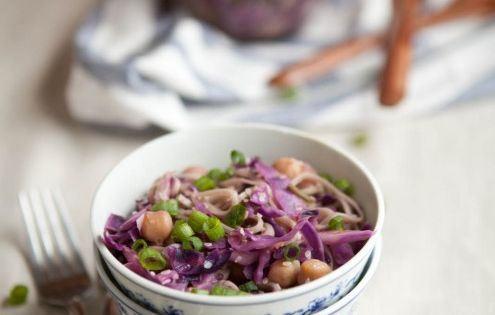 Soba noodles, Chickpeas and Cabbages on Pinterest