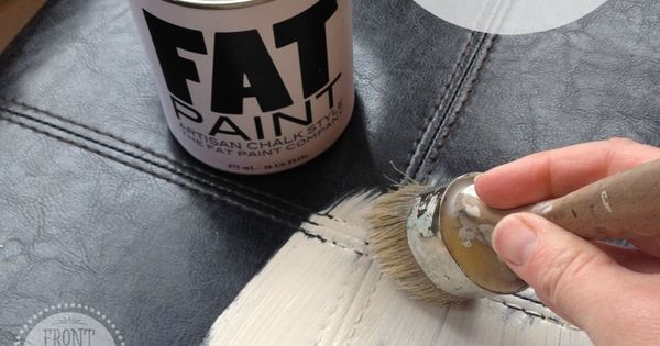 Painting Leather With Fat Paint My Cats Have Ripped Up Our