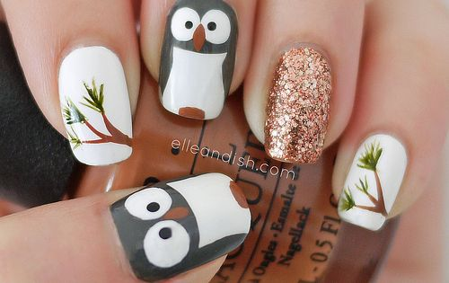 Owl Nail Tutorial - elle & ish - shopping, decor, - http://yournailart.com/owl-nail-tutorial-elle-ish-shopping-decor/