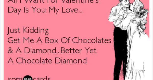 Valentine S Day Chocolate Diamonds Custom Valentine My Love
