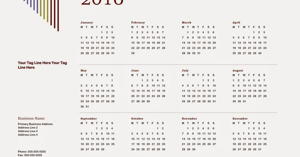 Calendars 2016, 2016 calendar and Download vector on Pinterest