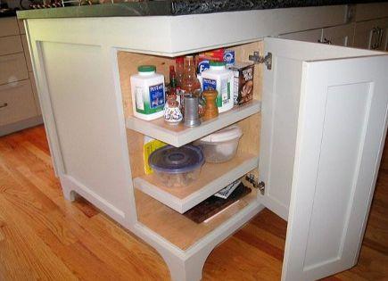 corner island cabinet door option