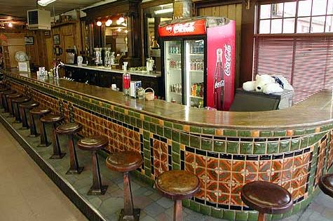 West yellowstone montana stores inside out for Old fashioned soda fountain near me