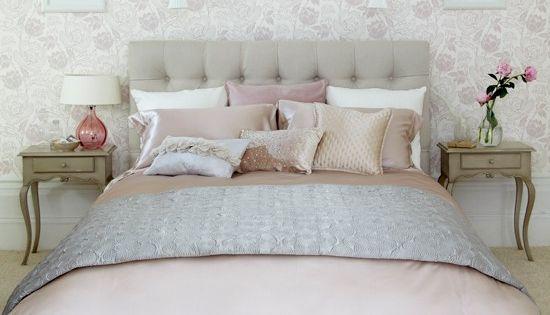 Slaapkamers: 10 ideen voor een slaapkamer met wit, roze en grijs ...