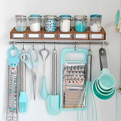 Baking Supplies In Duck Egg Blue With