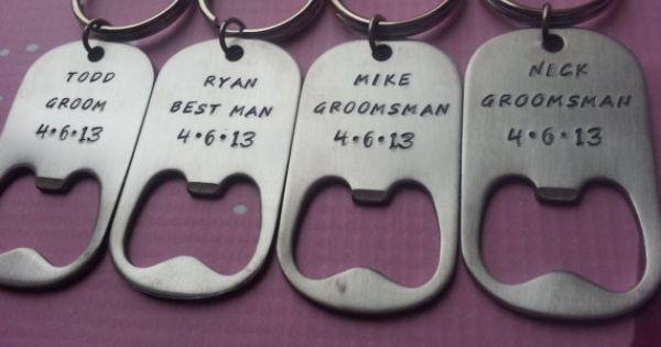 groomsman personalized bottle opener keychain groomsmen groomsman gift groomsman present. Black Bedroom Furniture Sets. Home Design Ideas