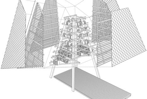 Summer School Students And Tutors From Riga Technical University Rtu Modelled The Story Tower On Architecture Concept Architecture Architecture Visualization