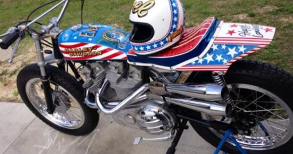 Evel Knievel S 1976 Harley Davidson Goes To Auction: Evel's Famous Harley-Davidson XR-750