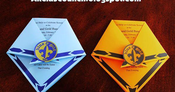akela u0026 39 s council cub scout leader training  cub scout blue  u0026 gold banquet dinner invitation