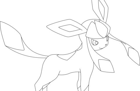 Glaceon Coloring Page Free Printable Coloring Pages Cute Coloring Pages Pokemon Coloring Pages Pokemon Coloring