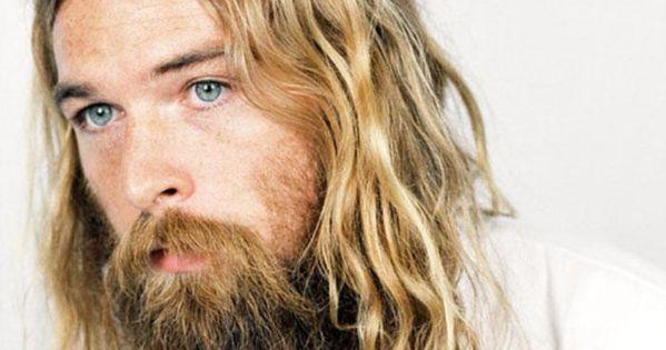 #menshairstyle #hippie #shaggy #beard #hair Mens Hairstyle