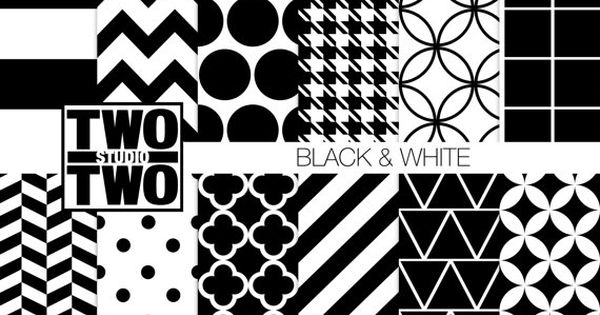 papier num rique noir et blanc black white patterns herringbone pied de poule. Black Bedroom Furniture Sets. Home Design Ideas