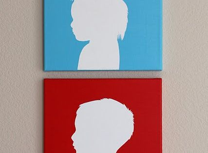 Canvas silhouette tutorial. I SO want to do these for my kids!