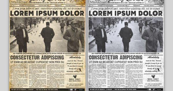 Vintage Newspaper Flyer Template Word Google Docs Free Download Newspaper Template Word Newspaper Template Vintage Newspaper
