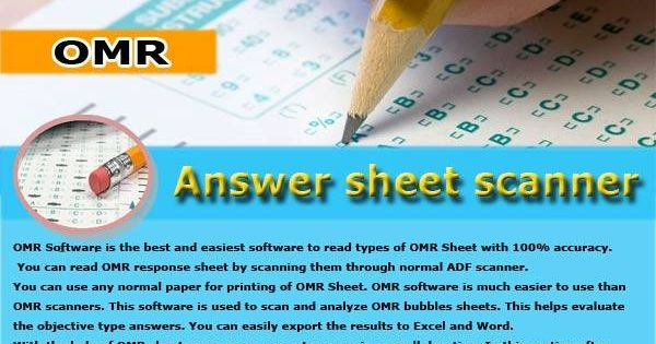 Coaching Soft to provide very easy to use OMR sheet scanner software - printing excel spreadsheets