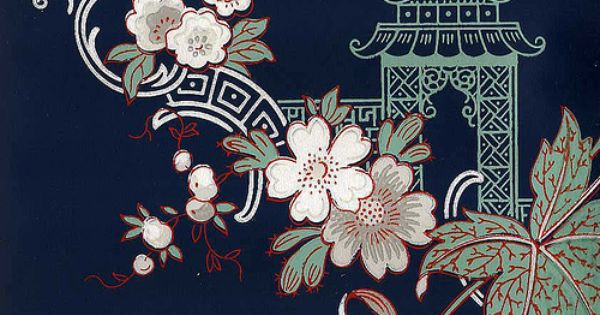 Secondhand Rose wallpaper, Chinoiserie QC-200 by Gatochy, via Flickr