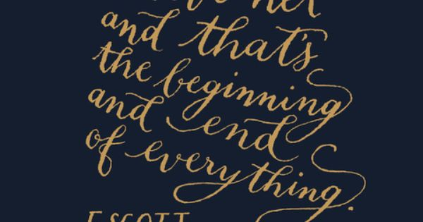 "Love Quote by F. Scott Fitzgerald, author of ""The Great Gatsby"""