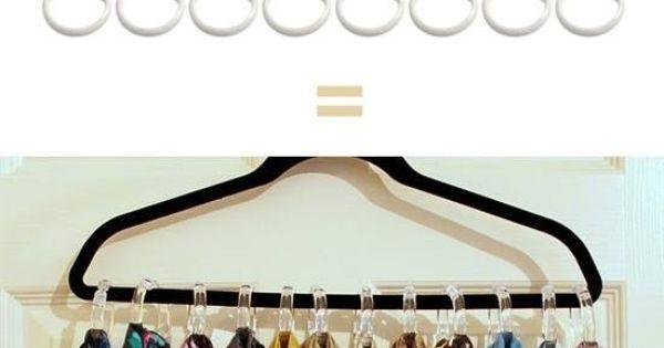 bien ranger ses foulards dans un placard astuce rangement rangement ranger ses foulards. Black Bedroom Furniture Sets. Home Design Ideas