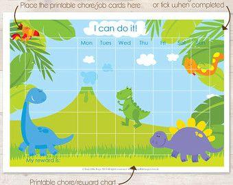 Dinosaur Reward Chart Reward Chart Sticker Chart Behavior Sticker Chart