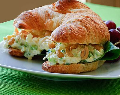Simple Chicken Salad Croissant Sandwiches... I LOVE CHICKEN SALAD SANDWICHES!!!!!!!!!!!